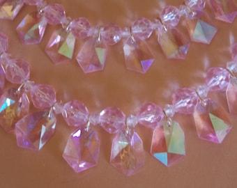 Pale Pink West German Plastic Necklace