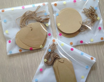 30 Gift tags with twine