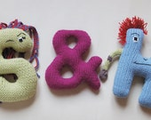 Ampersand (&) Symbol Plushy Knitting Pattern