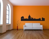 Wall Decal Rome Skyline Cityscape Landmark Italy Country Travel