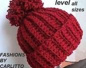crochet pattern hat,  num 49  .UNISEX TOUQUE. no fail, men , womens, teens, childrens, Beginner crochet, Instant Download