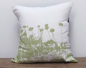 "High Line Linen Pillow with Insert, Printed in Citrus, 18x18"" ON SALE"