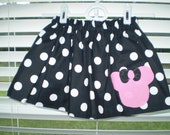Minnie Mouse Black and Pink Twirl Skirt