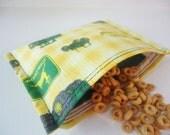 Reusable Snack Bag Eco Friendly - John Deere Tractors -