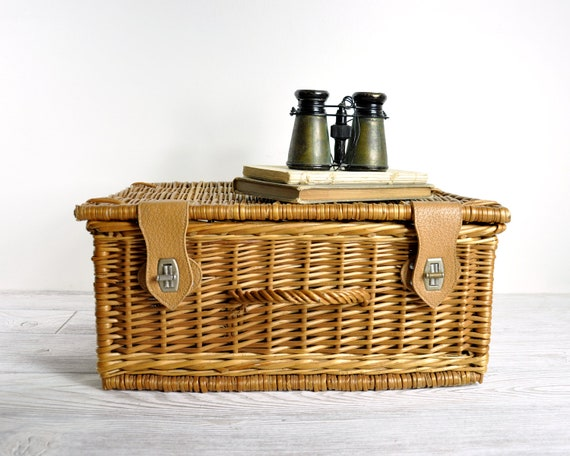 Vintage Wicker Basket / Storage Basket