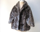 vintage luxurious 50's faux mink stole, bolero in rich sable by Regina Glenara