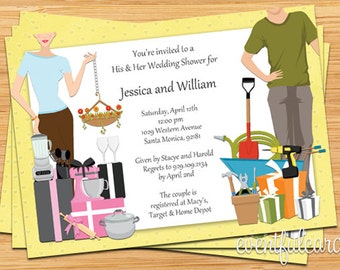 His and Hers Couple Wedding Shower Invitation