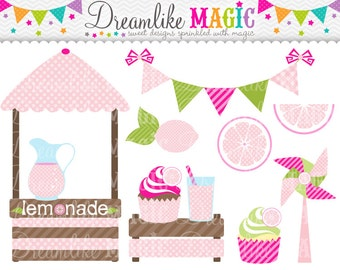 Sweet Pink Lemonade- Clipart for Personal or Commercial Use