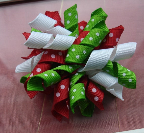 Corker Bow Hair Clip Holiday Mix