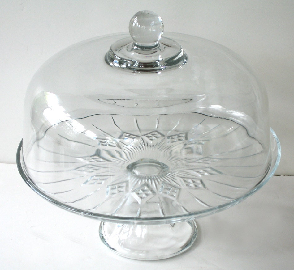 Clear Glass Pedestal Cake Stand