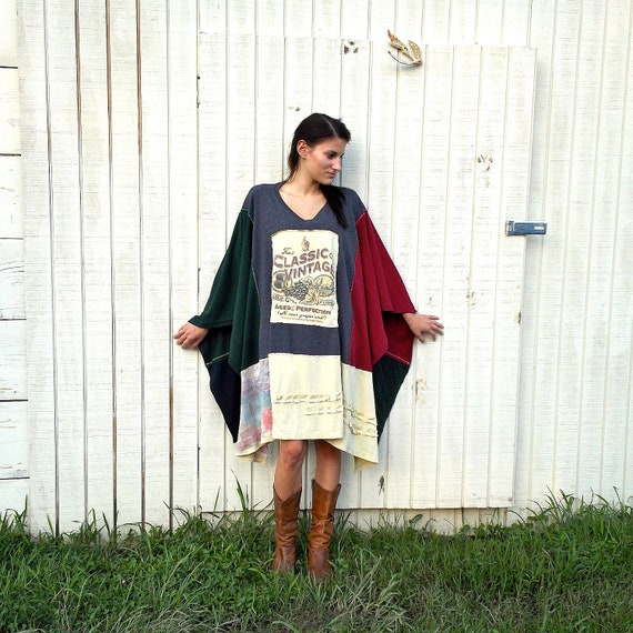 "made to order - romantic ""Bayou Boho"" Funky Eco Kaftan Shrug / Wrap / Jacket / Poncho"
