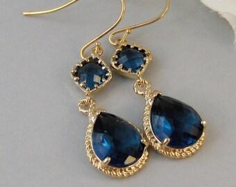 sapphire earrings – Etsy