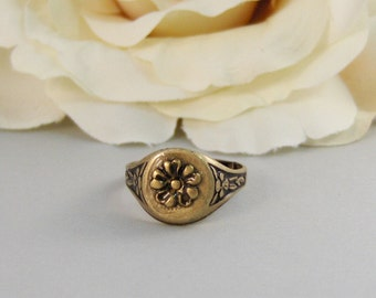 Antique Blossom,Ring,Brass Ring,Brass Blossom,Ring,Flower Ring,Antique Ring,Antique Brass,Victorian,Handmade jewelery by valleygirldesigns.