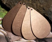 Large Pointed Teardrop with Hole Blanks Shape for Enameling Stamping Texturing Soldering Variety of Metals