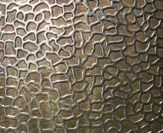Nickel Silver Texture Metal Sheet Snakeskin Pattern 18g 6 X