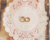 Doily Wedding Menus - Customized and Handstamped by KBatty