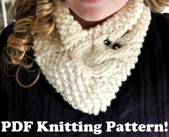 Owl Cowl Knitting Pattern : Owl Cowl Knitting Pattern by lindsaykoehler on Etsy
