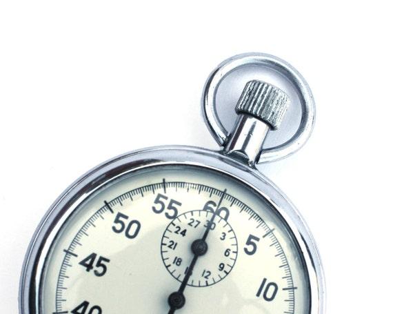Vintage chronometer from Russia Soviet Union era stopwatch