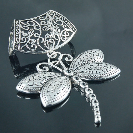 items similar to scarf pendant silver dragonfly scarf