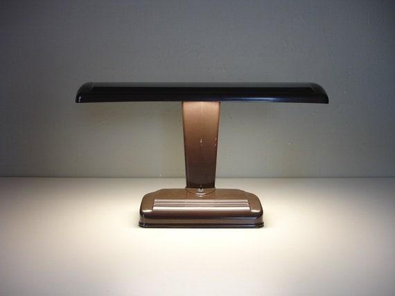 industrial art deco linear desk lamp