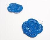 Cobalt Lace Earrings - Kella
