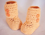 Crochet Baby Booties - Baby Ankle Boots ready to wear (0-3 months)
