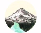 Mountain // 8.5 x 11 eco-friendly wall art print