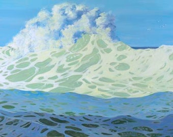 Incoming Paper Giclee Print Seascape Ocean by Carol Thompson