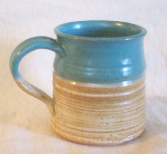 Turquoise and Brown Mug
