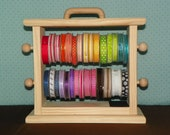 Small  Ribbon Storage Rack scrapbookers crafters organize all your ribbon .
