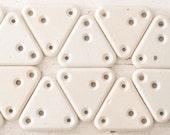 Vintage White Insulator - Porcelain Ceramic Triangle Insulating Plates