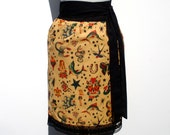 Made to Order Plus Size Custom Skirt / Tattoo Print / Day of the Dead