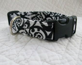 Black White  Dog Collar
