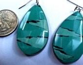 Turquoise Ikat Earring