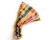 Southwestern Cotton Headband in Colorful Stripes, hair accessory, elastic fabric head scarf