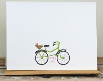 Dogs, Bicycle, Dog Stationery, Dog Thank You Cards, Bicycle Thank You Notes, Thank You Cards, Stationery