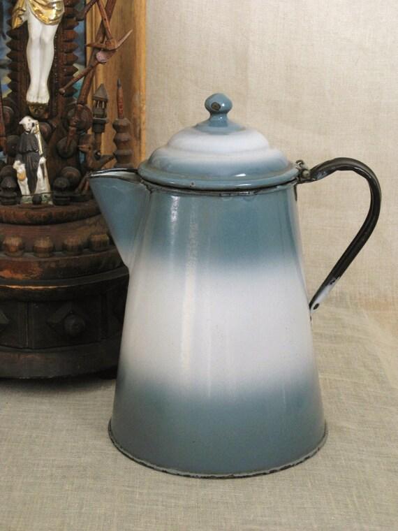Antique Enamel Coffee Pot - Farmland Chic