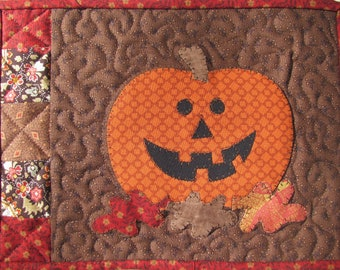 Pumpkin Mug Mat PDF Pattern