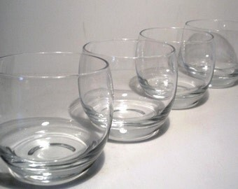 Vintage 4 Ounce Roly Poly Glasses Set of 4 Midcentury Modern Bar Ware Mad Men