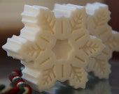 Peppermint Snowflake Frozen Glycerin Soap for Christmas, Winter, Wedding Party Favors or Birthday Gifts