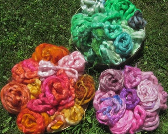 Colorful Hand Dyed Mohair Top You Choose