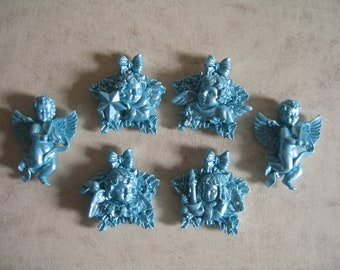6 Cherub Fridge Magnets