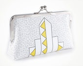 Art Deco clutch with yellow triangles