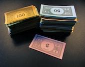 Vintage Monopoly  Money - 500+ Pieces