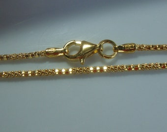 6% off, Sterling Silver with 18K Gold Plate Beautiful Designer Chain, Finished Chain, 6 pcs, 16 Inches, 2mm - Made in Italy