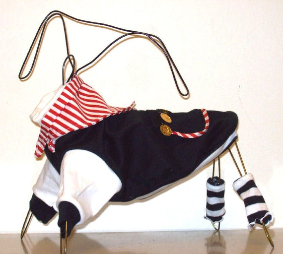 Salty Dog - Pirate costume for small size dog.