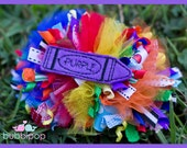 OOAK Boutique Back to School Funky Loopy Hair Bow Over The Top OTT Bowfairies Ready to Ship
