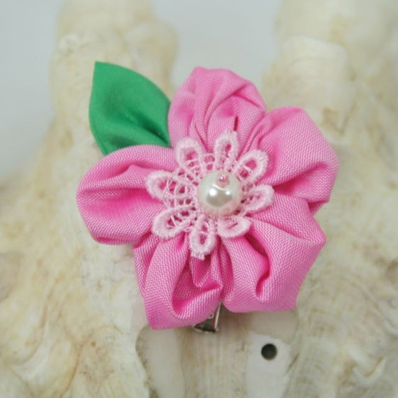 Thai silk flower  with lace