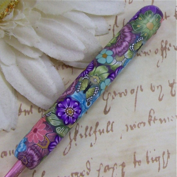 Susan Bates Polymer Clay Covered Crochet Hook, Size 7 /4.5mm
