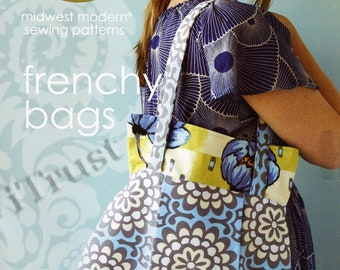 Amy Butler Sewing Pattern Frenchy Bags - FREE SHIPPING